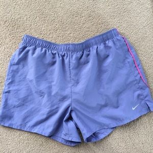 Nike fit dry women's running shorts sz med purple
